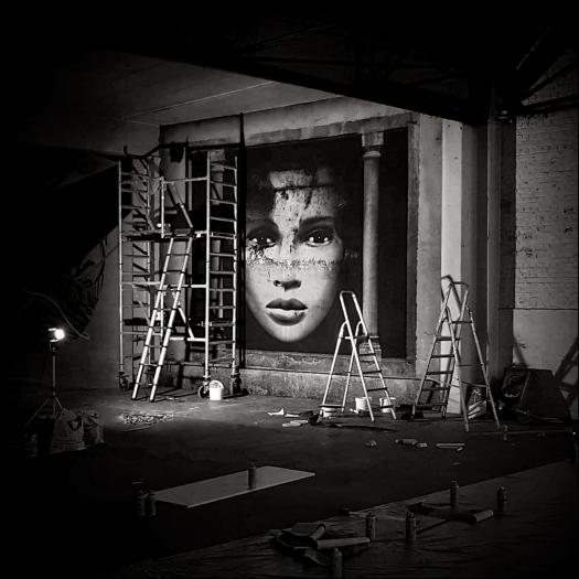 "E.Doll n° 65 by Softtwix, pour ""STROKAR INSIDE"", à Bruxelles, en juin 2018."